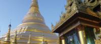 The central stupa of the Shwedagon Pagoda is 90 meters tall and gilded with gold leaf. | Caroline Mongrain