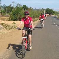 Riding along the roads between Buon Me Thuot to Dalat, Vietnam