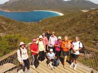 A group photo opportunity with the stunning Wineglass Bay as a backdrop |  <i>Steve Trudgeon</i>