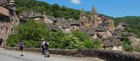 Wandering through the village of Conques