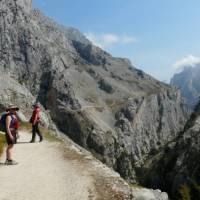 Long winding road through the Cares Gorge, Picos de Europa   Sylvia van der Peet