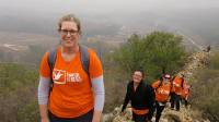 Climbing on the old section of the Great Wall on a charity challenge |  <i>Ayla Rowe</i>