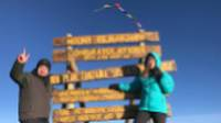 Celebrating on the summit of Mount Kilimanjaro |  <i>Georgia Canning</i>