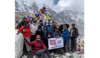 Charity challengers making it to Everest Base Camp