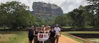 A group of World Vision fundraisers outside Sigiriya in Sri Lanka | Jessica Lawson