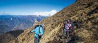 Trekkers enjoy fantastic weather while walking from Kopra Rodge to Swantha | Mark Tipple