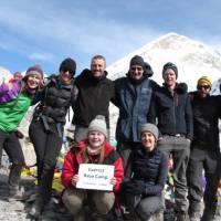 Trekking group at Everest Base Camp | Ayla Rowe